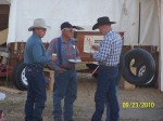 Bro Tim Ricker and men gathered at the chuck wagon