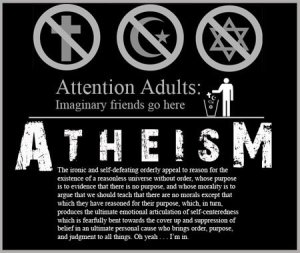 Atheism always comes back to man. Man can do it. Man can figure it out. Man knows how to live. Man determines his own path from beginning to end. Man, man, man. Man does a lot to control, subordinate and lord over man