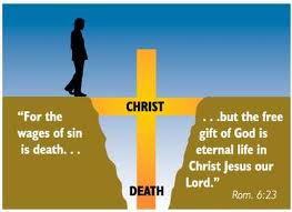 Sin brings death and separation from God. Jesus brings eternal life and reconciles and reestablishes our relationship with God.