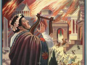 Nero is well know as one of the most self-absorbed megalomaniacs in history. He fancied himself a musician but could neither play the harp, nor keep a tune. He also thought himself an actor, but would only receive applause through coercion. He ordered his mother murdered. He set fire to his own capital city to encourage hatred for Christians. A lot like selling guns to criminals to create hatred for guns.