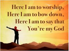 Though this is a picture of one, and worship can take place in solitary, it is not the chief form of worship. Instead of molding God's instructions to fit our desires, we are to mold our desires to fit God's Instructions.