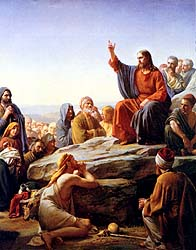 Though this is the sermon on the Mount, the point is tha tJesus is teaching about the Kingdom of God and life in that Kingdom which He knows about, but no one else does.