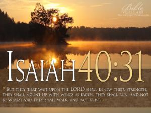 Seek His strength, accomplish His will.