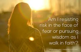 Walking in faith eliminates fear of our material world.