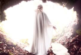 Coming from the darkness of a tomb wrapped in cloth for death, Lazarus steps blind into the light and is freed from the bonds of death for God's service.