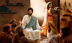 Martha serves, Jesus teaches, the disciples listen. Mere days before the final Passover for Jesus' earthly ministry, all are content. Mary chooses to anoint Jesus now because, for some reason, she knows she will not be able to anoint Him after His death as she did Lazarus. (Jn 12:7)