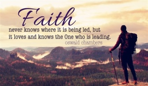Faith may not always know the next step, but it always knows the end provides victory.