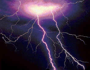 I know this is lightening, but finding God speaking as thunder in a picture was unproductive. All the pictures of God from Heaven are either judgment or some soft fatherly figure overlooking His creation. The truth is, when God speaks to man it THUNDERS and shakes one to the core.